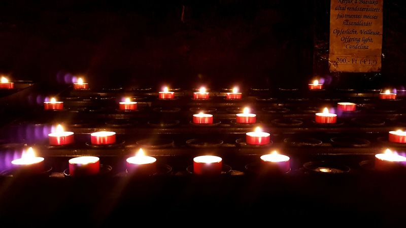 Candles for the deads. Religion Candlelight Candles Candles Burning Illuminated Indoors  EyeEmNewHere Be. Ready.
