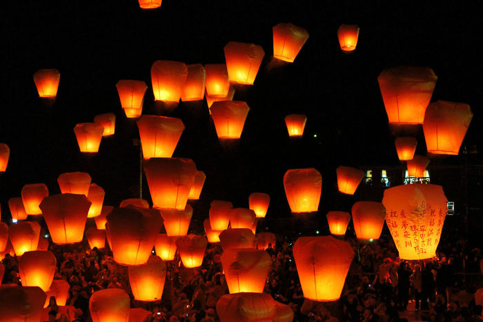 New Taipei City Lantern Festival folk culture festival daylight Taiwan Taiwan's New Taipei City Fugueijiao Lighthouse Blessing Burning Candle Close-up Festival Flame Folk Culture Heat - Temperature Illuminated Lantern Lantern Festival Large Group Of Objects Night Night Sky No People Orange Color Outdoors Peaceful Sky Lantern Up Warm