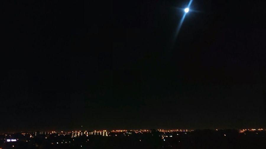 Lights In The Dark Illuminated Astronomy Sky Planetary Moon Astrology Moonlight