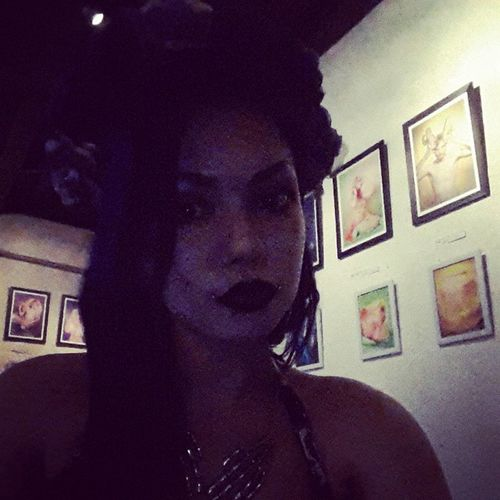 Waiting for my exhibition to start! Exhibition Art Makeup Flowercrown  Aishadiandra