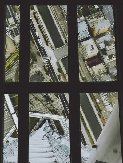 Endless city view through the floor. SkyTreeTower The Graphic City Tokyo Tokyo,Japan Architecture Built Structure City High Angle View Indoors  No People Skytree Throughthewindow Window