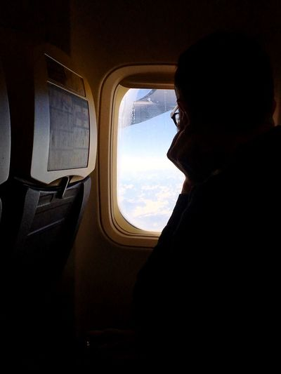 Vehicle Interior Transportation Window Travel Airplane Journey Mode Of Transport Sky One Person Looking Through Window Flying Day Airplane Seat Indoors  📍 Somewhere In The Sky Let's Go. Together. Second Acts Be. Ready. #FREIHEITBERLIN