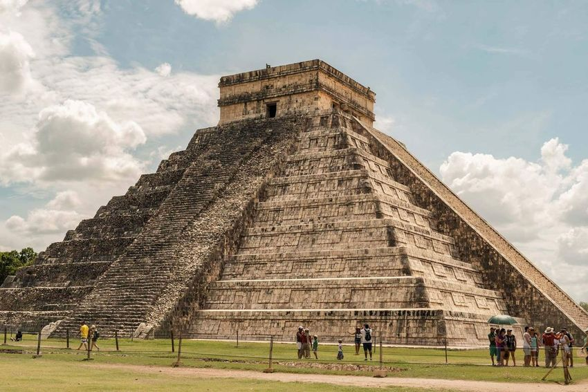 History Travel Destinations Architecture Tourism Travel Pyramid Ancient Civilization The Past Ancient Built Structure Cultures Archaeology Sky Vacations Cloud - Sky Old Ruin Day People Large Group Of People Building Exterior Chichen Itza Mexico Yucatan Mexico