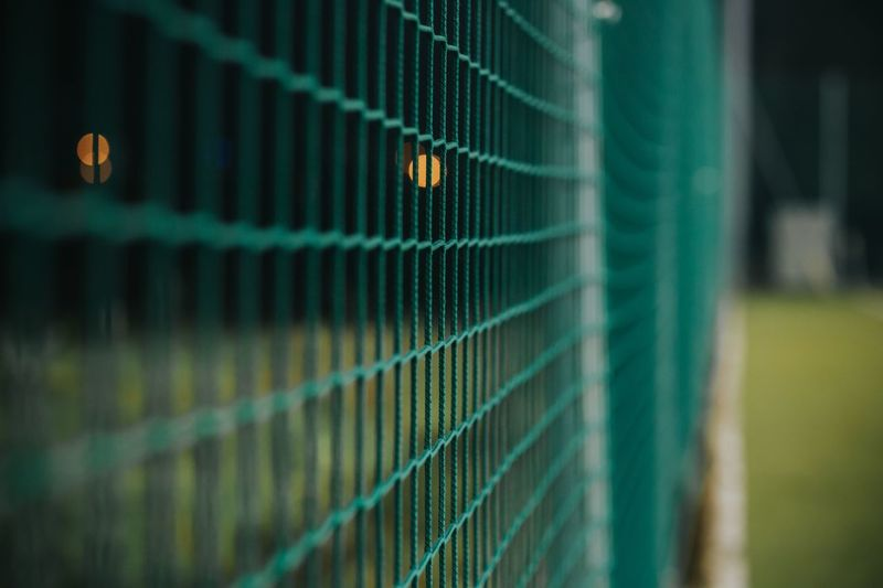Close-up of sports net