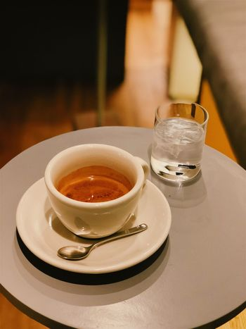 Espresso Coffee Cup Coffee Espresso Food And Drink Refreshment Drink Table Indoors  No People Close-up Freshness Focus On Foreground