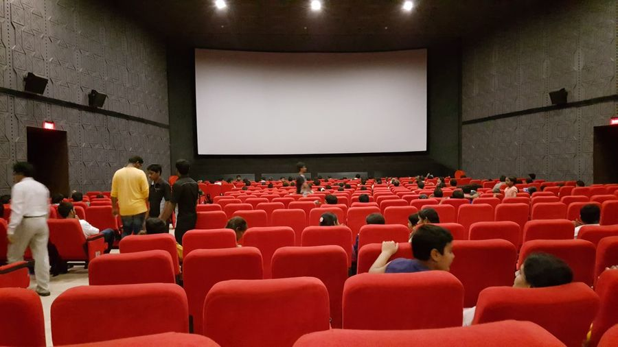 Cinema In Your Life Theater Theatre & Music  Theatrelife 70mm City Life Airconditionnerporn Popular Movies Cinema Look Cinema Madness Cinematic Photography EyeEm Gallery Eyeem Photography EyeEm Stress Reliever Stress Free Enjoyment😁 Seat Arrangement Multiplex Red Color With Family Members