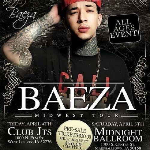 Ahh finally something good to go to.!!! Baeza Loveit April -5-14 @officialbaeza