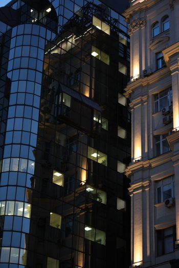 Architecture Built Structure Building Exterior Low Angle View Building Illuminated City Night Office Building Exterior Business Finance And Industry Finance Nature Office Residential District Business Modern No People Lighting Equipment Outdoors Window