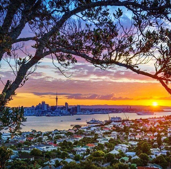 Sunset Travel Sea Tourism Vacations Beach Cityscape