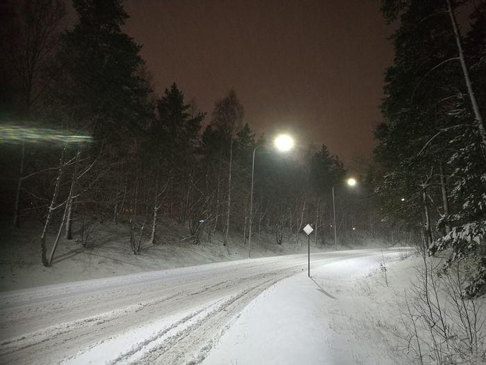 Snow. Road