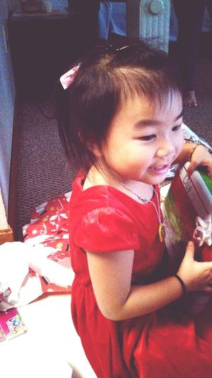 Lily's wearing the Hello Kitty ribbons I gave her <3