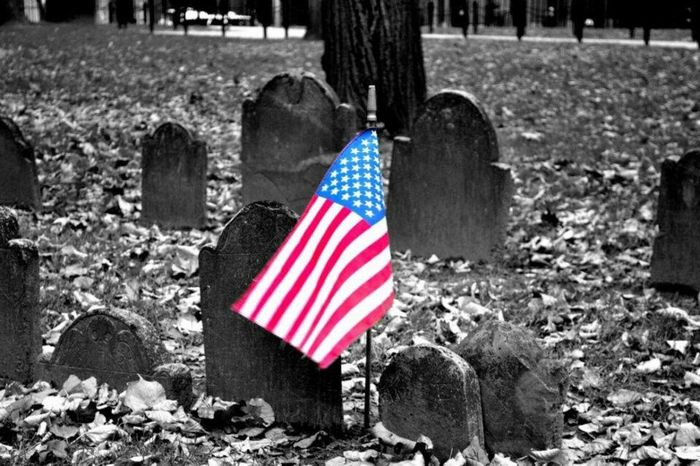 Cemetery Boston Usflag USA Remember