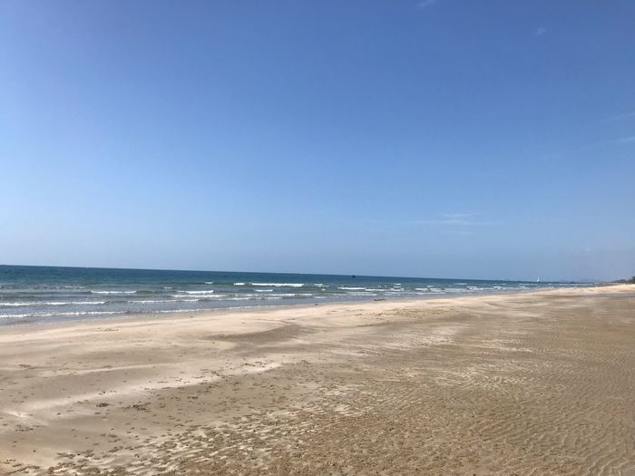 Beach Sea Water Land Beauty In Nature Scenics - Nature Sand Horizon Sky Horizon Over Water Copy Space Tranquility Tranquil Scene Idyllic Nature Day No People Clear Sky Outdoors