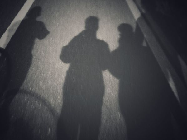 Shadow Focus On Shadow Real People Togetherness Two People High Angle View Silhouette