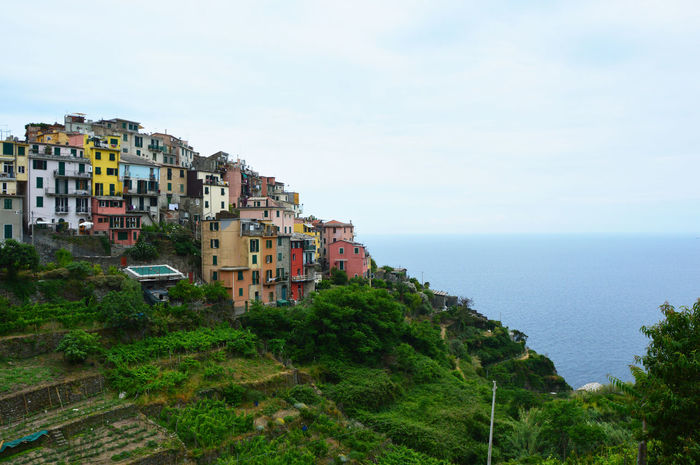 Corniglia, Italy Cinque Terre, Cinque Terre Cliffs EyeEm Best Shots Italian Landscape Italian Photos Old Town Sky And Clouds Architecture Building Exterior Built Structure Cinque Terre Cityscape Cinque Terre Italy Cinque Terre Liguria Cliffs And Water Colorful Houses Corniglia Day Europe Forest Historic Buildings  Italian View Italy Liguria Outdoors Lost In The Landscape