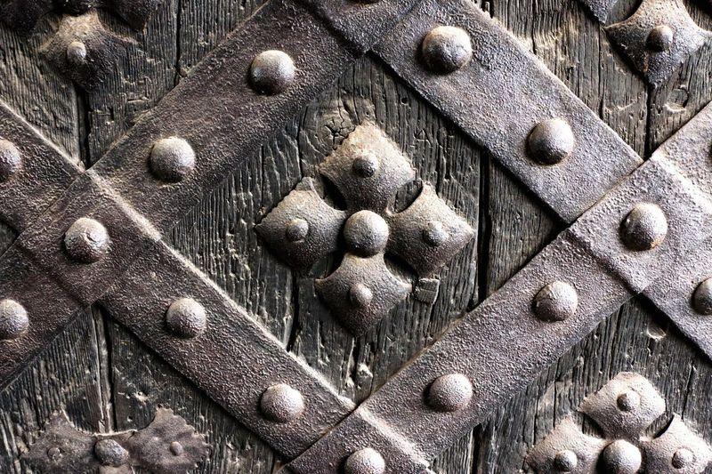 Detail shot of old wooden door