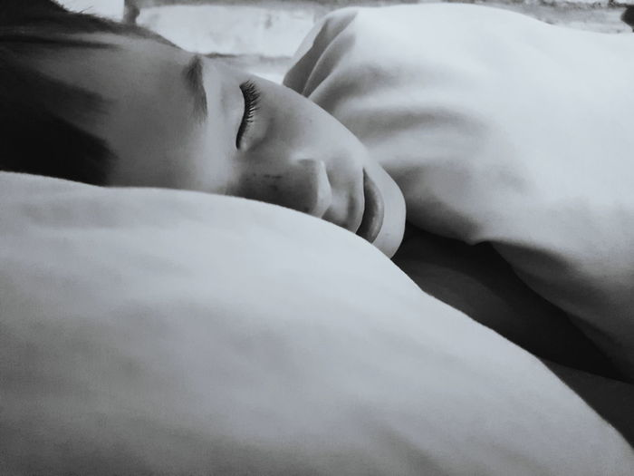 black and white dreams Sleep Peaceful Sleeping Sleeping Boy Portrait Blackandwhite Sleeping Child Black And White Close-up