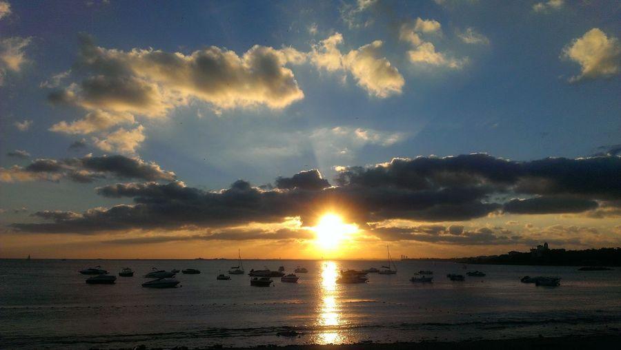 The sunset Water Sea Sunset Beach Blue Beauty Sunlight Sun Silhouette Summer EyeEmNewHere