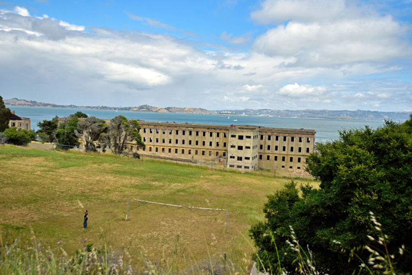 Fort McDowell_East Garrison @ Angel Island 1 San Francisco Bay 600-man Barracks Camp Reynolds Till Renamed 1900 New Construction Began 1910 Built By Military Prison Labor From Alcatraz Old Camp Know As West Garrison Due To Overcrowding Became 1,000-man Barracks Army Processed 4,000 Men Monthly During WWI Recruit Depot For Men Entering Army Enlisted Men Returning Were Processed Here Architecture Architecture_collection Military Housing Architecture Photography Landscape Landscape_lovers Parade Grounds Playing Field Area Landscape_Collection Landscape_photography Military Base Architectural Detail