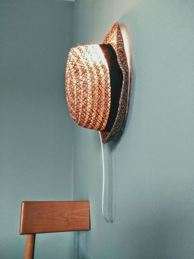 Hat Hanging On Wall At Home
