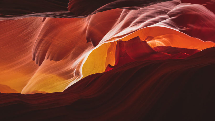 color shades inside antelope slot canyon in arizona Arizona Desert Light Orange Red Rock Rock Formation Shades Antelope Canyon Canyon Color Shades Colors In Nature Desert Beauty Eroded Erosion Erosion Effects Geological Formation Geology Light And Shadow Natural Landmark Nature Rocks Slot Canyon Smoothie Waves
