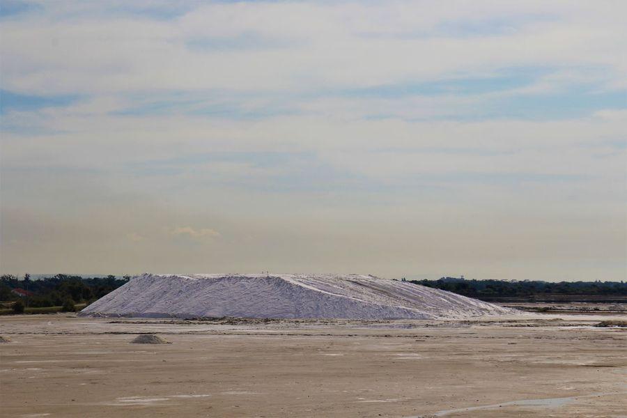 Salt Mountain Provence France Camargue Mountain Landscape Salt - Mineral Salt Lake Mineral