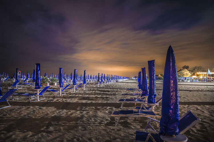 Beach Holiday Italy Long Exposure Night No People Pause Quiet Rest Seat