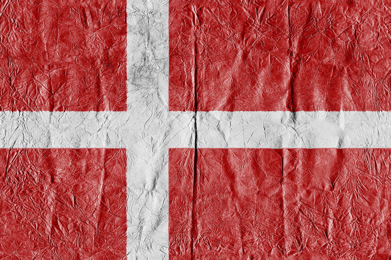 Denmark Flag on a paper in close-up Background Close-up Concept Country Flag Denmark Denmark Flag Eu Europe Flag Freedom Growth Isolated Land National Flag National Land Paper Pattern State Symbol Textured  Travel