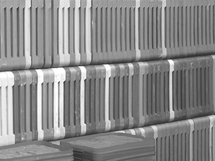 Smart Simplicity - Asparagus Boxes Stacked , Monochrome