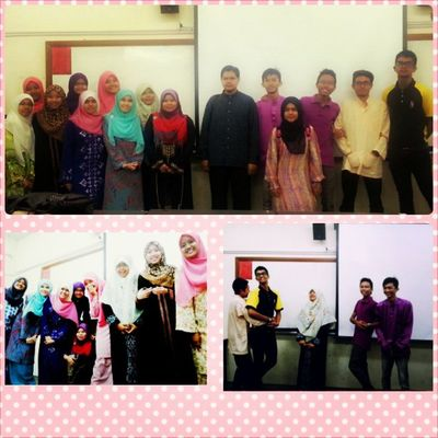 Last Friday with our beloved ustaz Wan Kamal... * A semester with ustaz is awesome, Alhamdulillah..ustaz do feed us with lots of knowledge that is out of the box... May Allah bless you ustaz.. Superb ... Accountancy Classmates Addin