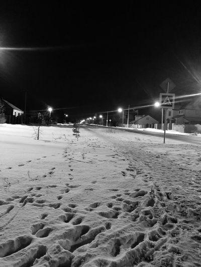 Night Winter Illuminated Night Winter Cold Temperature Snow Sand No People Nature Outdoors Street Light Sky EyeEmNewHere