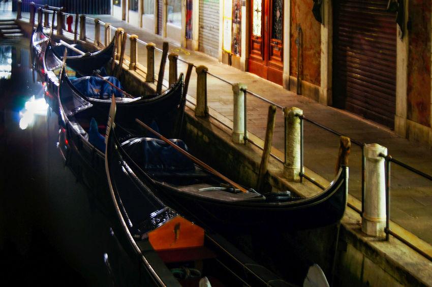 Venice, Italy Venezia, Italia City Night Lights Venice, Italy Architecture Building Exterior Canal Canals Gondola Gondola - Traditional Boat Illuminated Italy Nihgt No People Outdoors Reflections Street Transportation Water