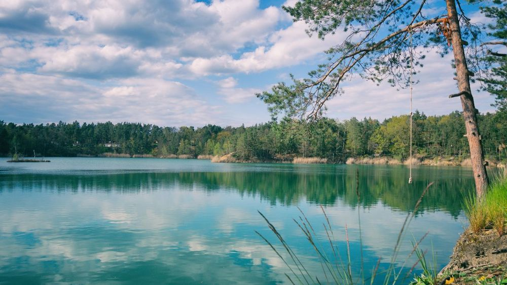 blue lake Blue Lake Blauer See Pretzien Sachsen-Anhalt Germany Landscape Landscape_Collection Landscapes With WhiteWall Taking Photos Sky And Clouds Nature Nature_collection