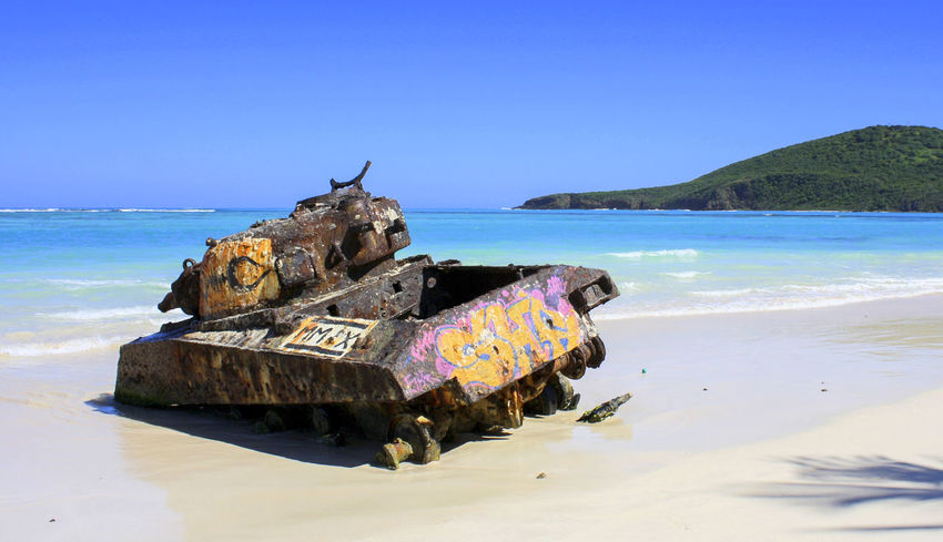 Left behind. Beach Blue Blue Sky Culebra Culebra Island Graffiti Holiday Isla Culebra Sand Stranded Stranded Tank Summer Sun Tank Miles Away