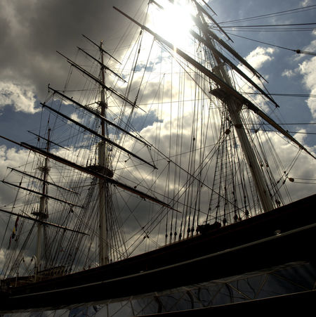 The age of sail Cloud - Sky Cutty Sark Greenwich.  Day Low Angle View Mast Mode Of Transport Moored Nature Nautical Vessel No People Outdoors Rigging Sailboat Sailing Sailing Ship Sky Tall Ship Transportation Water EyeEm LOST IN London