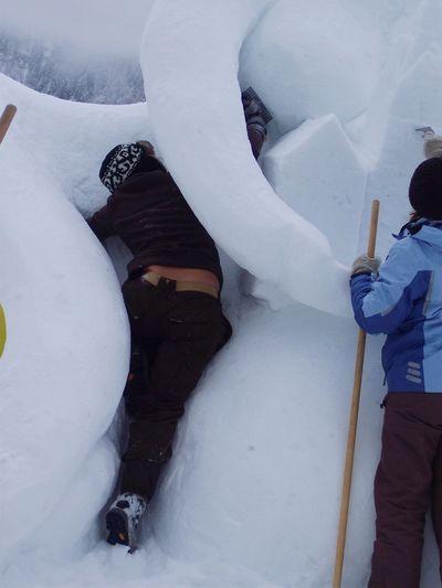 Snow artist Sauris