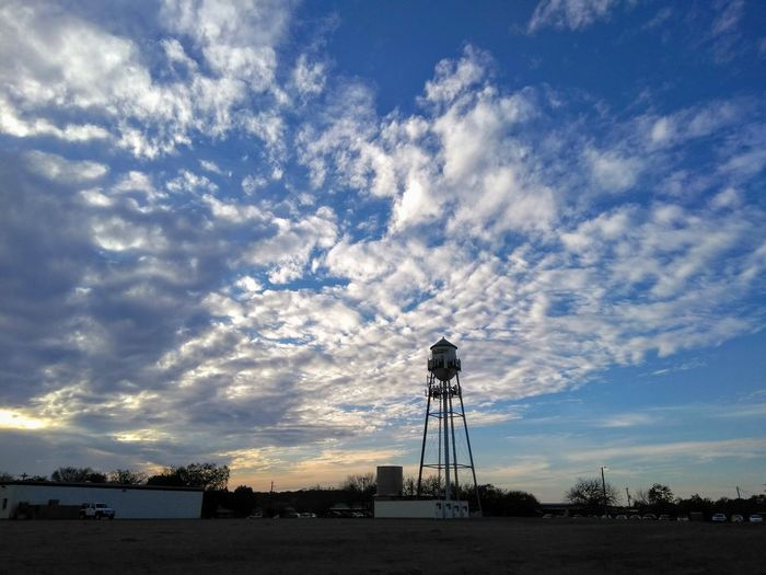 Sunset Watertower Clouds Cloud - Sky Sky Silhouette No People Tranquility Low Angle View Technology Outdoors