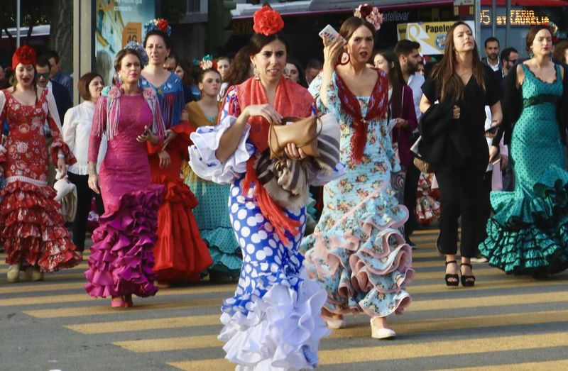 Flamenco SPAIN Traditional Culture València Celebration Colourful Dresses Culture Festival
