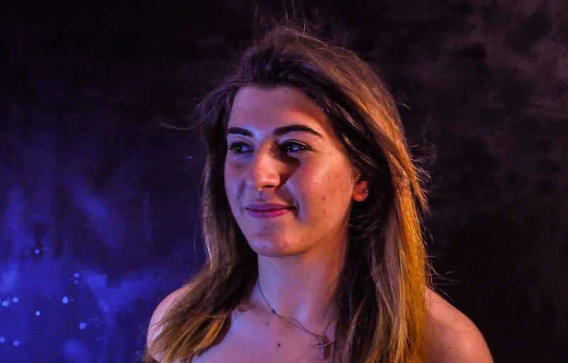 Headshot Portrait Young Adult One Person Young Women Hair Hairstyle Front View Real People Long Hair Lifestyles Indoors  Women Night Leisure Activity Looking Away Looking Adult Beautiful Woman Contemplation