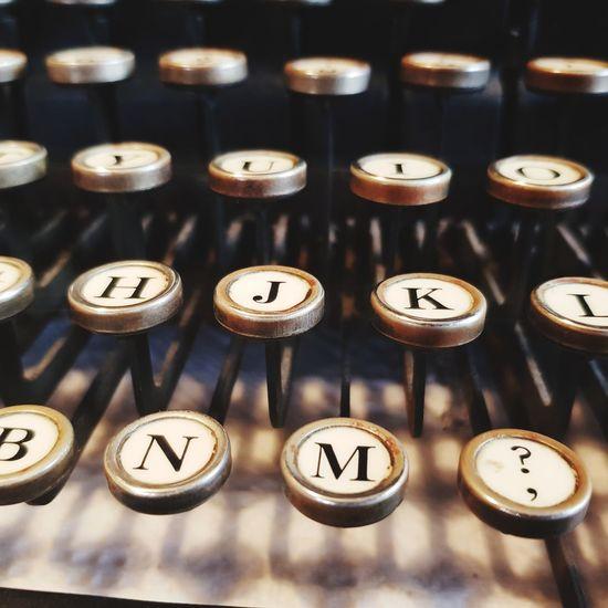 typewriter keys Old Type Writer Keys Number
