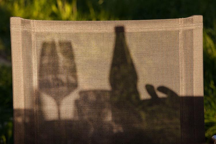 Bottle Dinner Garden Glass Outside Shadows Summer Wine Wine Not Breathing Space Modern Hospitality
