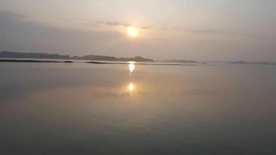 Lake Nature No People Outdoors Reflection Scenics Sky Sun Sunlight Water