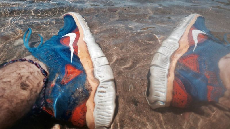 Anklet Blue Close-up Day Directly Above Human Body Part Human Leg Nike On The River Bank  One Person Orange Color Out Of The Box Outdoors River Sand Shoe Summer Days Water