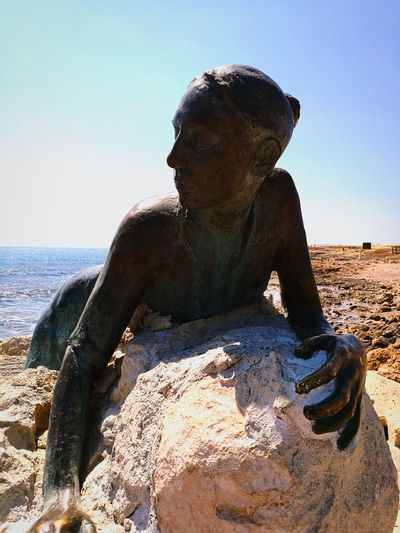 Sand Water Adult Beach Outdoors Sea Clear Sky One Man Only People One Person Sky Close-up Mammal Blue Sunlight Cyprus Nature EyeEmNewHere Art Is Everywhere Break The Mold No People Archaeology The Past Summer City Architecture