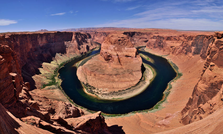 Horseshoe Bend Desert Horseshoe Bend River View United States Arid Climate Beauty In Nature Day Geology High Angle View Landscape Natural Arch Nature No People Outdoors Physical Geography Rock - Object Rock Formation Scenics Sky Tourism Tranquil Scene Tranquility Travel Travel Destinations View From Above An Eye For Travel The Great Outdoors - 2018 EyeEm Awards