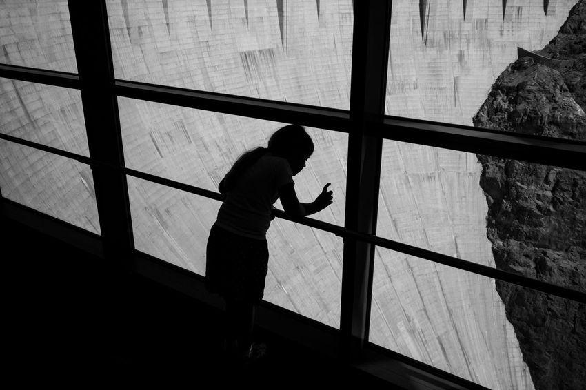 One Person Childhood Silhouette Child Streetphotography Street Photography Nevada Arizona Hoover Dam