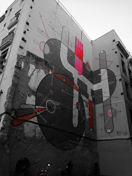 Wall Wall Art Wallpainting Wall Design Walldecoration Barcelona, Spain Outdoors Colors