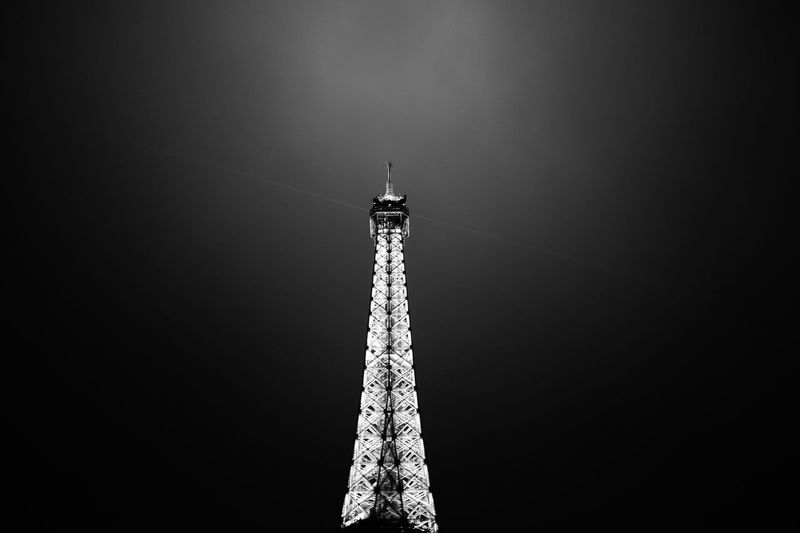Eiffel tower Architecture Arcitecture B&w Black And White Building Exterior Built Structure Capital Cities  Clear Sky Eiffel Tower Famous Place Fuji Fujifilm International Landmark Low Angle View Monument Outdoors Religion Spirituality Tall Tall - High Tower Travel Destinations X100 X100S Xseries
