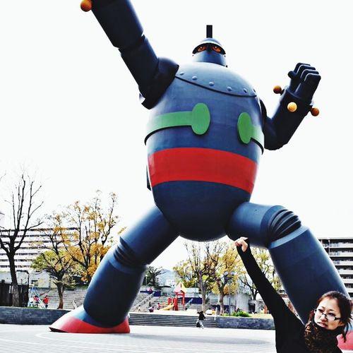 Ironman Gigante Too Big Sight Seeing 六甲山帰りに、鉄人28号はじめて見に来た。