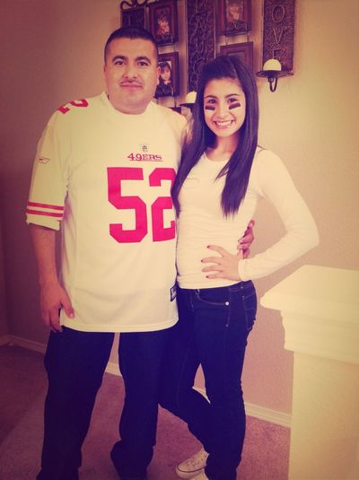 With my daddy (':